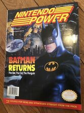 Nintendo Power Magazine Volume 48 Issue May 1993 Batman Returns w/ Poster Bubsy