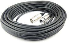 20 m Mikrofonkabel Adam Hall K3 MMF 2000 black XLR XLR 3 pol DMX Mikrofon Kabel