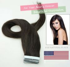 "Best Quality AAAAA 16''-24"" Tape-In 100% Premier Remy Human Hair Extensions USA"