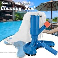 AU Vacuum Brush Cleaning Tool Swimming Spa Pool Pond Fountain Vacuum Cleaner