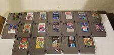 Lot Of 20 NES Games Nintendo Lot, TMNT, Final Fantasy, Super Mario Bros. Rare!!
