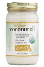 Organic huile de coco par oliology pour cheveux et peau Exp:12/2019/396ml