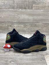 Nike Air Jordan XIII 13 Retro Olive Green Black Red Suede White Sz 8 414571-006