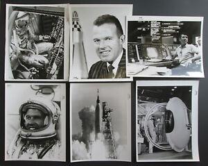 Lot of Eleven Official NASA Astronaut Vintage Photos G. Cooper W. Schirra 1960's