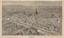 A0017 Strassburg - Veduta - Stampa Antica del 1907 - Xilografia
