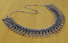 Oxidized Silvertone Retro Style Boho Gypsy Necklace Indian Women Fashion Jewelry