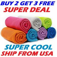 ice Cooling Towel for Sports/Workout/Fitness/Gym/Yoga towels USA SELLER