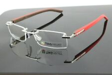 RARE NEW Genuine TAG Heuer Trends Red Brown Silver EyeGlasses Frame TH 8109 011