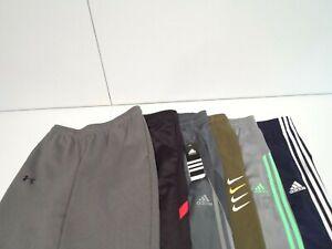 Lot of 6 Nike Under Armour Adidas Athletic Works Boys Sweatpants Size Large Kids
