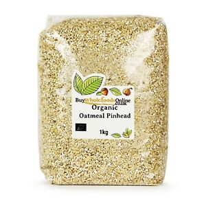 Organic Oatmeal Pinhead 1kg   Buy Whole Foods Online   Free UK Mainland P&P