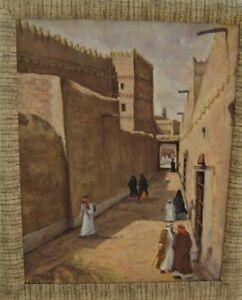 Scarce Orientalist Oil on Canvas Ahmed BAITEM (1927-2013) Palestinian/Saudi