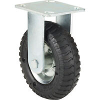 Ironton 6in. Rigid Pneumatic Caster - 200-Lb. Capacity, Lug Tread
