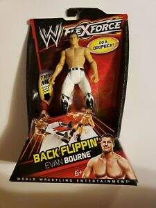 BRAND NEW! WWE Evan Bourne Figure Mattel Flex Force Back Flippin TNA White Sydal