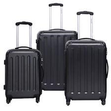 Costway 3pc Luggage Suitcase Set TSA Travel Hard Case Lightweight Black