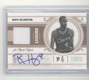 Ron Harper auto jersey card /99 2010 Playoff National Treasures NM Clippers