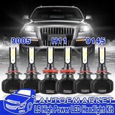 H11 9005 LED Headlight Hi/Lo Beam+Fog 9145 9140 For Toyota Tundra Sequoia USA