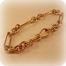 9 carat Rose Gold Elongated solid link Bracelet, hallmarked 1998