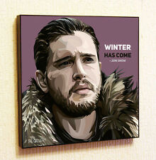 Jon Snow Painting Decor Print Wall Art Poster Pop Canvas