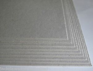 Greyboard Grey 9 x A4 2000mic 2mm Extra Thick for Mount Board Backing Modelling
