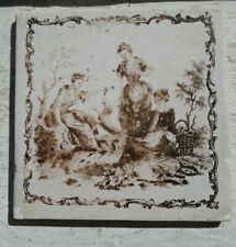 18th Century Sadler and Green Liverpool Tile