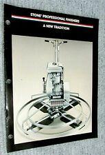 1987 Stone Construction Equipment Motorized Concrete Finishing Brochure Free Sh