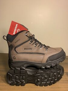 "Wolverine 6"" Mid-Cut Waterproof Hiker Boot Brown Men's Size 12EW"