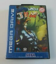 EARTHWORM JIM SEGA MEGA DRIVE GAME AND BOX ONLY (TESTED AND WORKING) PAL