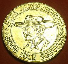 Jesse James Cachette Good Luck 28mm Médaillon Stanton Missouri ~ Gratuit