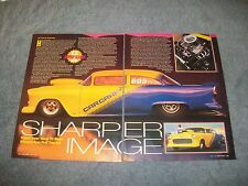 """1955 Chevy Vintage Car Craft Project Super 'Glass Article """"Sharper Image"""""""