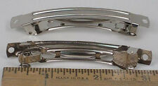 FRENCH BARRETTES**80mm** NICKEL PLATED METAL*BOWS, RIBBON BOW, 3 INCH 100 PC/BAG