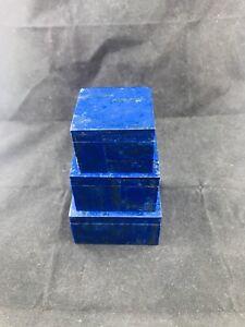 BEAUTIFUL LAPIS LAZULI SQUARE JEWELLERY BOXES SET!!!...