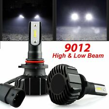 2x 9012 10000LM LED Fog Headlight Bulbs High/Low Beam Kit 60W 6000K Cool White