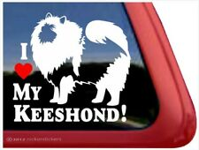 I Love My Keeshond | High Quality Vinyl Dog Window Decal Sticker