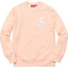 8f60d2f0199d SUPREME S Logo Crewneck Peach Size Medium Sweatshirt BRAND NEW