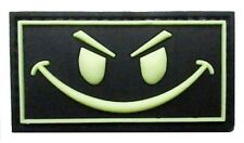 Patche sourire phosphorescent PVC souple 3D tactical morale patch scratch