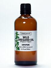100%  WILD OIL OF OREGANO OIL 100ml/3,4oz  GREEK ORIGIN CARVACROL 86% CERTIFIED