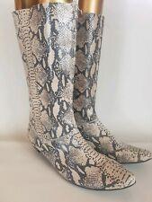 Faith UK 5 38 peau de serpent cuir mollet bottes hautes petit talon très bon état Neuf Avec Étiquettes