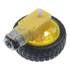2pcs @$4.45 New Car Robot Plastic Tire Wheel with DC 3-6V Gear Motor for Arduino