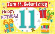 Geburtstagsteelicht Geburtstag Geburtstagkarte Kerze Teelicht Zum 11. Geburtstag