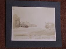 Kensal ND/Main Street Drifred Over After Blizzard/Early 1900s Glossy Sepia Photo