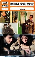 FICHE CINEMA : MA FEMME EST UNE ACTRICE - Gainsbourg,Attal,Stamp,Sagnier 2001