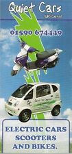 Quiet Electric Cars Scooter & Bikes 2008 UK Market Foldout Sales Brochure