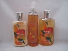 Bath & Body Works Mango Mandarin Shower Gel Body Lotion Splash Lot Set of 3