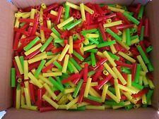 200 bunte Plastikröhrchen Kunststoffröhrchen Kugelfang Schießbuden Luftgewehr
