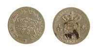 s1170_224) NETHERLANDS INDIES - INDIE OLANDESI 1/10 GULDEN  AG 1855