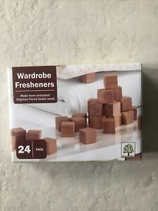 Wardrobe Fresheners Made With Untreated Virginian Pencil Cedar Wood 24 Pack