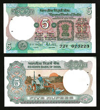 INDIA 5 RUPEES 1975 (1985-90) UNC P.80p Sign 85 R.N.MALHOTRA , LETTER A