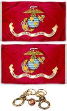3x5 USMC Marine Corps Marines EGA 2 Sided 2-ply Spun Polyester Flag Gift Package