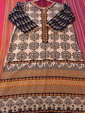JUNIAD JAMSHED lawn kurta SIZE 10 sana safinaz KHAADI sapphire cross stitch elan