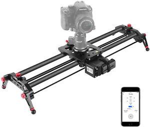 Neewer Camera Slider Motorized, 31.5-inch APP Control Carbon Fiber Track Dolly